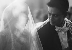 beautiful moment during the wedding ceremony