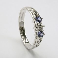 celtic rings | Trinity Tanzanite Engagement Ring (C-748) - Celtic Engagement Rings