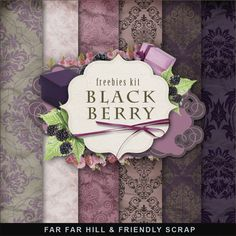 Far Far Hill: New Freebies Kit - Black & Berry