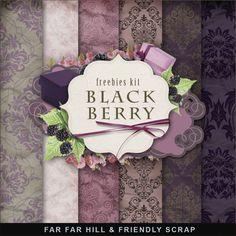 Far Far Hill: New Freebies Kit - Black & Berry