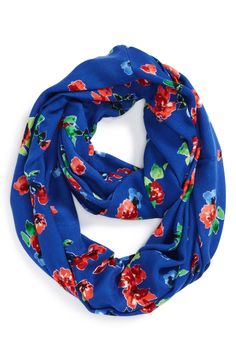 Cute retro-chic floral infinity scarf.
