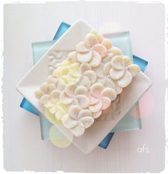 my collection: beautiful jenggala soap on the jenggala plate  *photo by afs