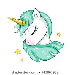 Cute Unicorn photos, royalty-free images, graphics, vectors & videos Cute magical unicorn is dreaming. Vector design isolated on white background. Print for t-shirt or sticker. Romantic hand drawing illustration for children. Unicorn Painting, Unicorn Drawing, Cartoon Unicorn, Unicorn Art, Magical Unicorn, Cute Unicorn, Drawing Drawing, Drawing Tips, Unicorn Graphic
