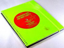 Notizbuch Schallplatte colored Vinyl, upcycling