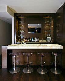 Modern Bar Basement Design Ideas, Pictures, Remodel and Decor Wet Bar Basement, Basement Bar Plans, Basement Bar Designs, Modern Basement, Basement Renovations, Basement Ideas, Basement Bathroom, Small Bars For Home, Modern Bars For Home