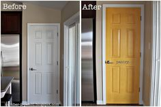 Yellow Pantry Door Makeover - No. 2 Pencil