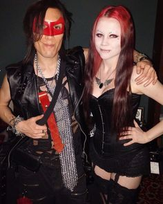 Rocky & Kitty Nyu - Model at the Love & Lust Valentine's Costume Ball vending our exclusive handmade leather accessories