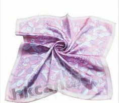 Spring silk Ascot easter scarf