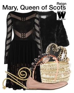 """Reign"" by wearwhatyouwatch ❤ liked on Polyvore featuring Yves Salomon, Sweet Romance, Lipsy, Temperley London, CO, HALABY, Lanvin, television and wearwhatyouwatch"