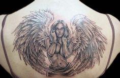 Angel tattoos designs on back (29)