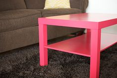 How to Paint Ikea Furniture Including Expedit, Kallax, Lack and Malm. Going to do this with my little old lack table. Kallax, Ikea Malm, Ikea Expedit, Painting Ikea Furniture, Painted Furniture, Laminate Furniture, Furniture Makeover, Home Furniture, Cheap Furniture