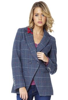 Eloise - Semi- Fitted Longline Tweed Blazer. Short and sassy, easy to wear style conscious, tailored jacketing. Part of the new Ness Tailoring Collection http://www.ness.co.uk/coats-jackets/eloise.html