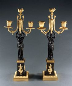 French Empire Neoclassical Candelabra Candelabra, Candlesticks, French Empire, Neoclassical, Lamps, Chandelier, Ceiling Lights, Decor, Candle Holders
