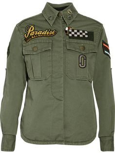 14d5f1ed2470 Marc Jacobs - Embellished Cotton-canvas Jacket - Green - US