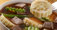 Mole de Olla - #Receta Un tradicional caldo mexicano que se sirve como comida completa. Ideal para la temporada de frío.