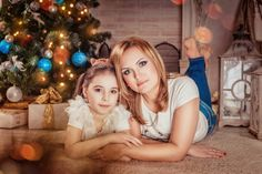 Mommy And Me Photo Shoot, Christmas Photography, Christmas Photos, Beautiful Children, Baby Pictures, Family Portraits, Christmas Decorations, Daughter, Silhouette