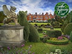 This used to be a 'Barnardo's Home' but has been sympathetically converted to residential dwellings. Our wayward topiary apprentice appears somewhat distracted by this statue of a winged lion which claims to be our ancestor.