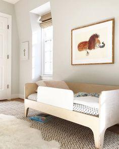 Simple yet playful big kid room Design by Lindsey Frank Design