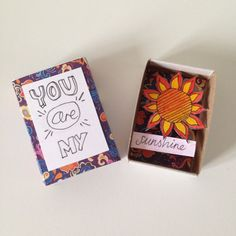 You Are My Sunshine Matchbox Art by lovepopsie on Etsy
