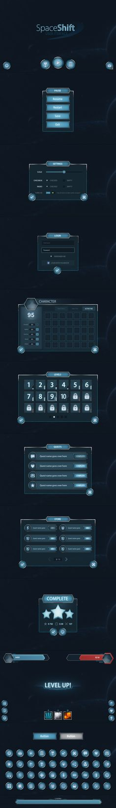 Spaceshift Mobile UI by Evil-S.deviantart.com on @DeviantArt