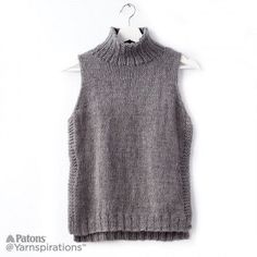 Sleeveless Knit Turtleneck