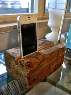 Instructions for making your own raw wood iPhone speakers.  Project by sketchystyles.com  #DIY  #iPhone