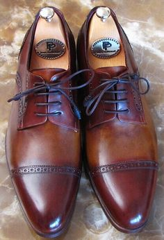 086b16770e0a PAUL PARKMAN MEN S BORDEAUX   BROWN DERBY SHOES 身なりのいい男性
