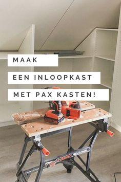 Ikea Pax, Wardrobe Design Bedroom, Attic Closet, Attic Storage, Diy Bedroom Decor, Home Decor, Home Crafts, Diy Crafts, Diy Furniture