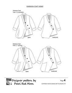 Marama Coat womens PDF sewing pattern