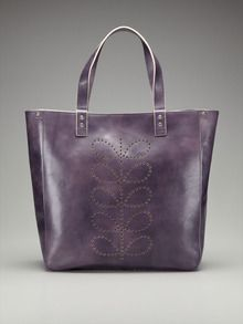 Structured Stem Leather Willow Tote by Orla Kiely at Gilt