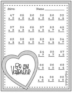 Need extra practice with multiplication? This set includes 10 pages of 2 digit by 1 digit multiplication with regrouping practice. An answer key for each page is included. Multiplication Worksheets, Teaching Resources, School Worksheets, Multiplication Problems, Multiplication Strategies, Two Digit Multiplication, Math Stations, Math Centers, Math Games