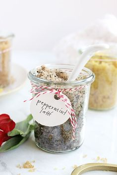 This holiday sugar scrub trio is easy to make in big batches, so it's perfect for holiday gift giving. Just pour it into pretty jars and wrap them up!
