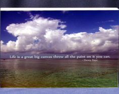 Items similar to Life Is A Great Big Canvas Throw Paint 5X7 Print on Etsy