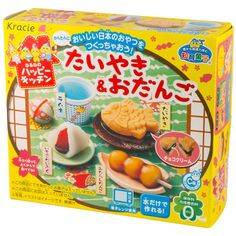 If you're a fan of Japanese sweets, this is most definitely the DIY kit for you! This kit includes everything you need to make the miniature candy versions of four traditional Japanese sweets. Enjoy a