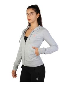 Trussardi action - felpa donna - chiusura full zip e cappuccio - due tasche…