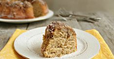 Recipe for a banana bundt cake with brown sugar and walnuts.
