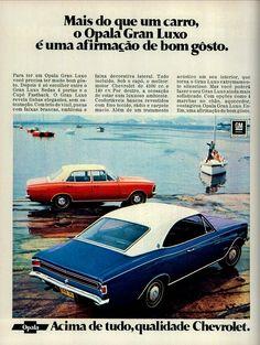 Anúncio Opala Gran Luxo - 1972