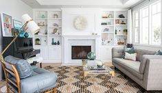 Modern Meets Vintage Charm in an Orange County Living Room | Rue