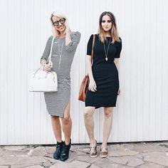 stripes&white&black! no mood do dia tivemos o clássico FRIDAY is coming feelings e uma dose de vestidos twinsies. #stylemood