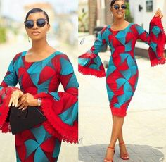 Items similar to African Clothing/Ankara Dress/ African Print on Etsy Latest African Fashion Dresses, African Print Dresses, African Print Fashion, African Dress, Ankara Fashion, Fashion Outfits, Dress Fashion, Fashion Styles, Trendy Ankara Styles