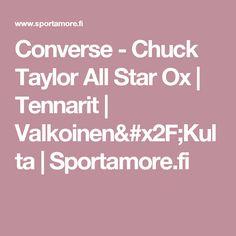 Converse - Chuck Taylor All Star Ox | Tennarit | Valkoinen/Kulta   | Sportamore.fi