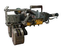 Junker Gun - Nail Gun, Ted Beargeon on ArtStation at https://www.artstation.com/artwork/N5DWb