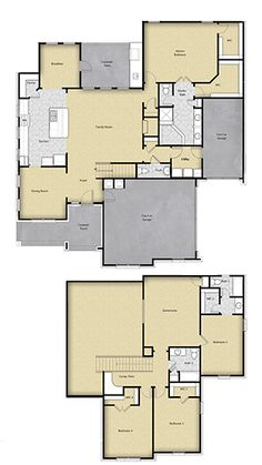 4 BR 3.5 BA Floor Plan House Design in Houston, TX