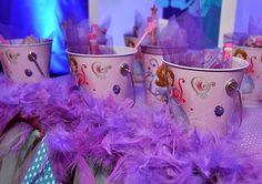 Favors at a Sofia the First Princess Party #princess #sofiathefirst