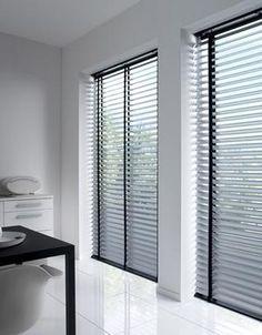 Living Room Blinds, Living Room Decor, Bedroom Decor, Wood Blinds, Curtains With Blinds, Window Shutters Exterior, Next At Home, Window Coverings, Kitchen Interior