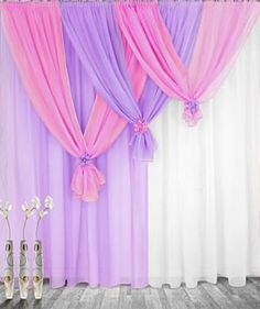 pretty idea to hold short curtains Diy Backdrop, Backdrop Decorations, Wedding Decorations, Curtain Designs, Backdrops For Parties, Event Decor, Home Projects, Bedroom Decor, Interior