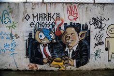 Graffitis anti fifa #FifaGoHome #FifaGoOut