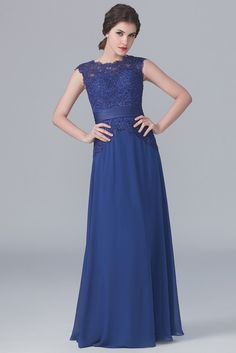 Blue lace bodice bridesmaids dress by For Her and For Him
