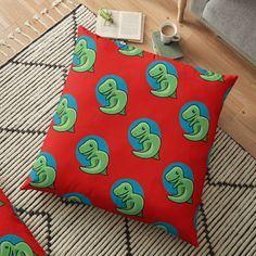 'Cute dinosaur ' Floor Pillow by pixelpixelpixel Cute Dinosaur, Floor Pillows, My Arts, Flooring, Art Prints, Printed, Awesome, Shopping, Products