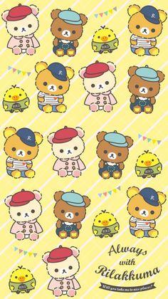 Rilakkuma, My Melody Wallpaper, Iphone Wallpaper, Rilakuma Wallpapers, Diy Stickers, Kawaii Drawings, Sanrio, Cute Wallpapers, Cool Pictures